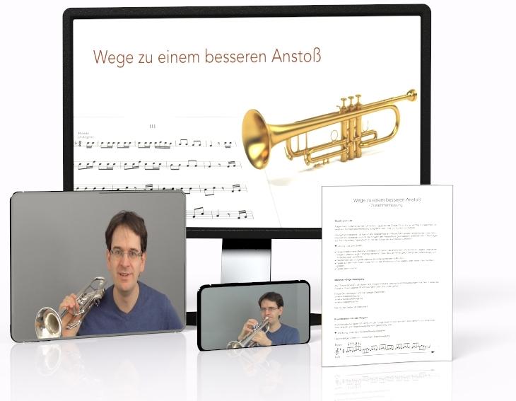 Trompete Anstoß Übungen